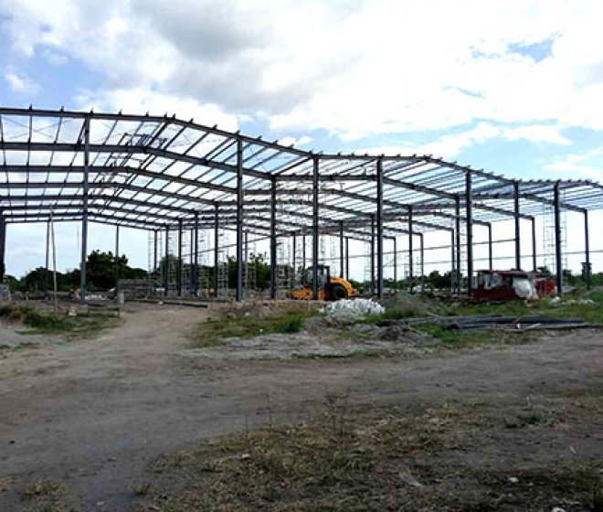 Philippines multi span steel structure warehouse