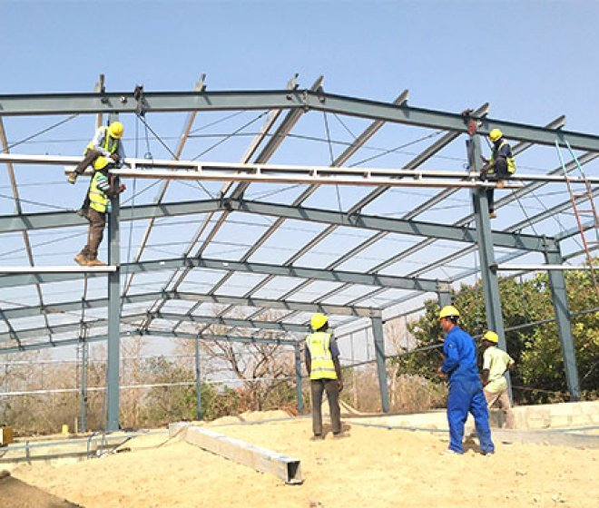 Benin steel structure workshop